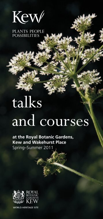 talks and courses - Royal Botanic Gardens, Kew