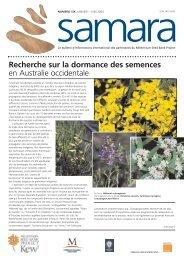 Recherche sur la dormance des semences en Australie occidentale