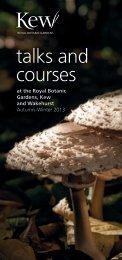 talks and courses - Royal Botanic Gardens, Kew