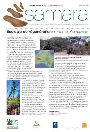 Ecologie de régénération en Australie Occidentale - Royal Botanic ...