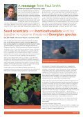 A successful partnership between seed banking and horticulture: - Page 3