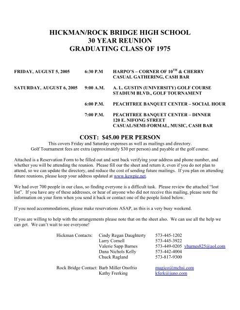 Print Letter, Registration & Lost List