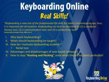 Presentation (PDF) - Keyboarding Online