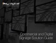 Commercial and Digital Signage Solution Guide - Key Digital