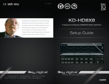 KD-HD8X8 - Key Digital