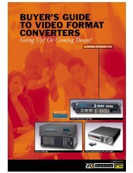 BUYER'S GUIDE TO VIDEO FORMAT CONVERTERS - Key Digital