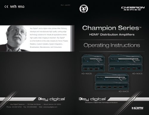 Operation Manual - Key Digital