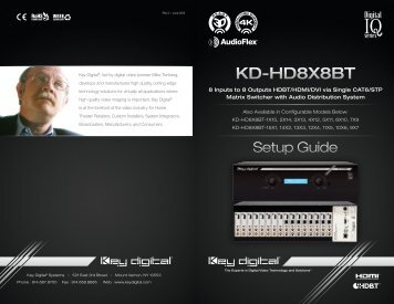 KD-HD8X8BT - Key Digital
