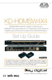 KD-HDMSW4X4 - Digital Connection