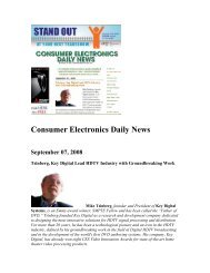 Consumer Electronics Daily News - Key Digital