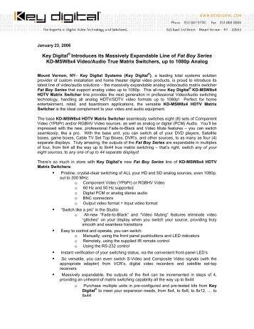 Press Release - Key Digital