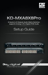 KD-MXA8X8Pro - Key Digital