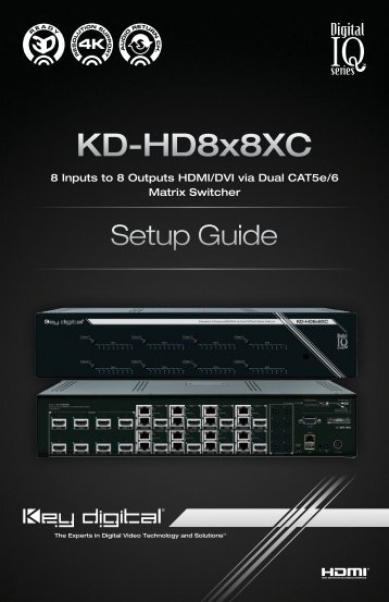 KD-HD8x8XC - Key Digital