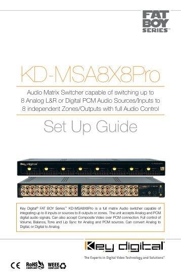 KD-MSA8X8Pro - Key Digital