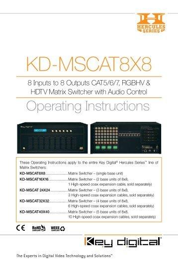 KD-MSCAT8X8 - Key Digital