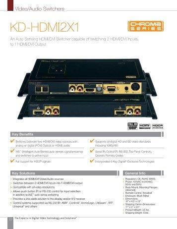 KD-HDMI2X1 - Key Digital