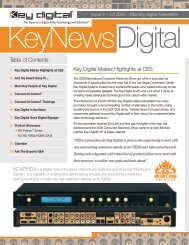 Q1 2008 - Key Digital