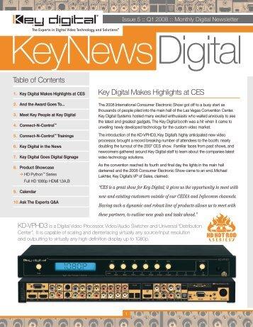 Q1 2008 - Key Digital