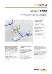 Data Sheet MileGate SUEN1 - KEYMILE