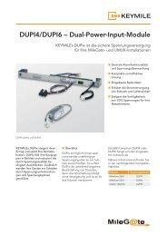 Datenblatt DUPI4/DUPI6 - KEYMILE
