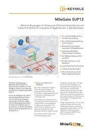 Datenblatt MileGate SUP12 - KEYMILE