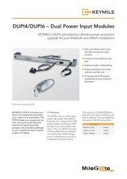 Data Sheet Dual Power Input DUPI4/DUPI6 - KEYMILE