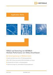Application Note - Vectoring mit MileGate - KEYMILE