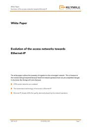 White Paper - Evolution of the access networks towards ... - KEYMILE