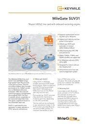 Data Sheet MileGate SUV31 - KEYMILE