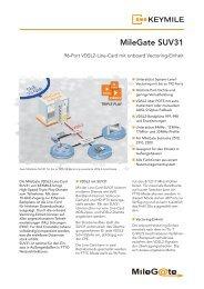 Datenblatt MileGate SUV31 - KEYMILE
