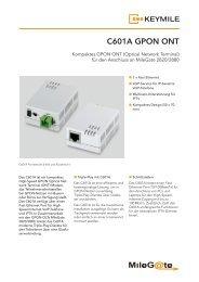 Datenblatt GPON ONT C601A - KEYMILE