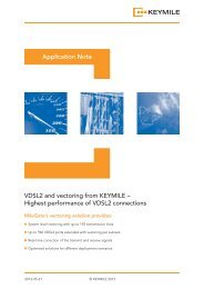 Application Note - Vectoring with MileGate - KEYMILE
