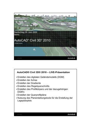 Autocad® Civil 3D® 2010 - CWSM Gmbh