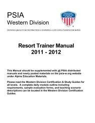 CSIA Manual Ch 1-5 - Canadian Ski Instructors' Alliance
