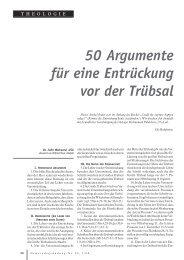 50 Argumente für eine Entrückung vor der Trübsal