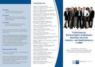 Info-Flyer FOSA - und Handelskammer Ostwestfalen zu Bielefeld