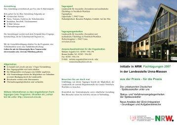 Flyer: Fachtagungen 2007