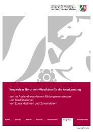 Wegweiser Nordrhein-Westfalen für die Anerkennung von im ...