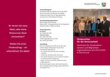 03.12.2011 in Dortmund - Kompetenzzentrum für Integration