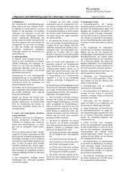 Allgemeine Geschäftsbedingungen für Lieferungen und Leistungen