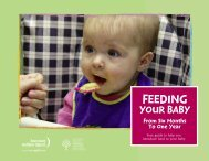Feeding Your Baby From Six Months To One Year