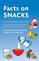 Facts on Snacks - KFL&A Public Health