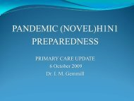 Pandemic Influenza Preparedness presentation - KFL&A Public Health