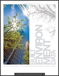 An Environmental Scan of Built Environment Data Related to ...