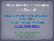 Office Infection Prevention presentation - KFL&A Public Health