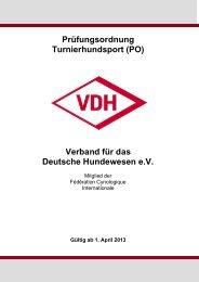 Prüfungsordnung Turnierhundsport (PO) Verband für das ... - VDH