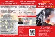 Flyer Beruf Feuerwehr - Kreisfeuerwehrverband Ennepe-Ruhr eV