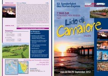 VG 2012.09.22-29 - 7 Tage Toskana LIDO DI CAMAIORE - Depliant ...