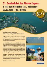 51. Sonderfahrt des Florian Express 6 Tage zum Neusiedler See ...