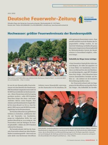 Juli 2013 - Deutscher Feuerwehrverband